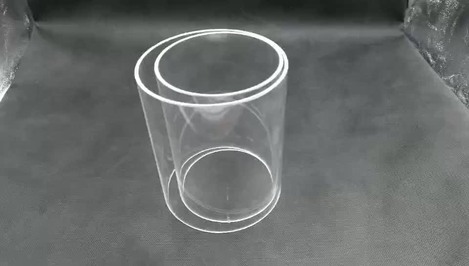 Chịu nhiệt đường kính Lớn hợp nhất thủy tinh thạch anh ống xi lanh
