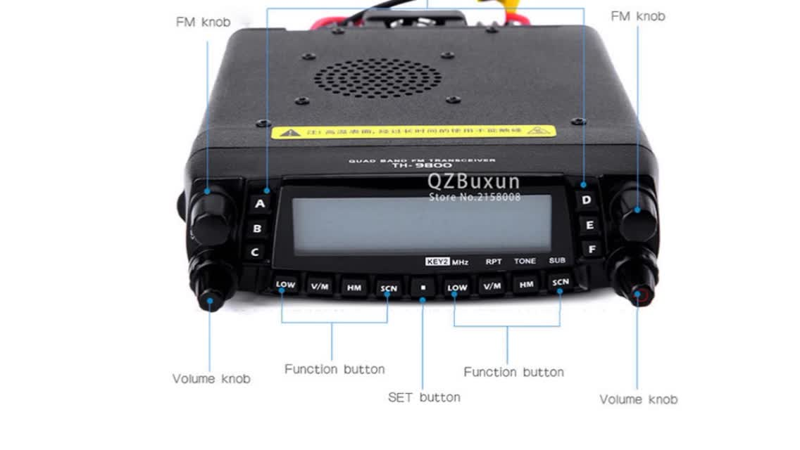 TYT TH-9800 Quad Band Rádio Móvel Transceptor 50w Quad Band Ham Car Radio