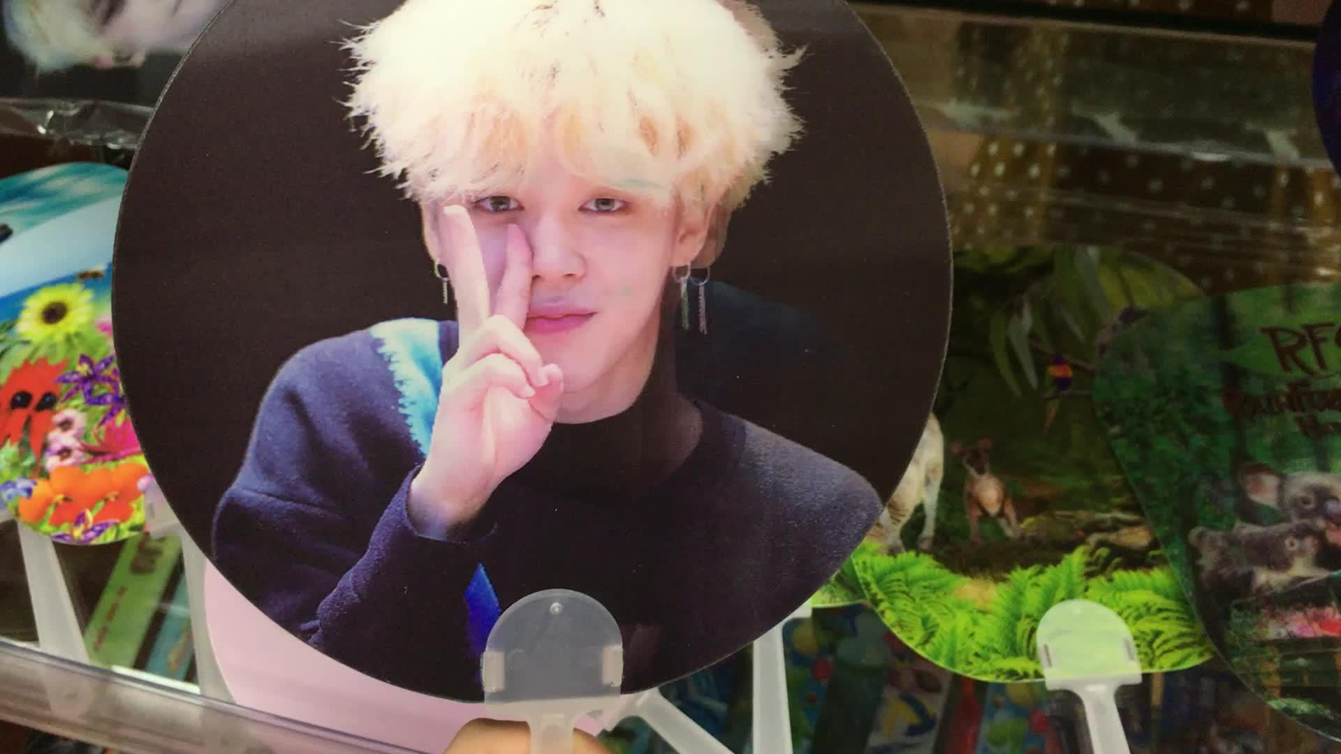 3D lenticular lenticular ventilador de mão ventilador de mão para a Coréia estrela promocionais 3D para ídolo Kpop
