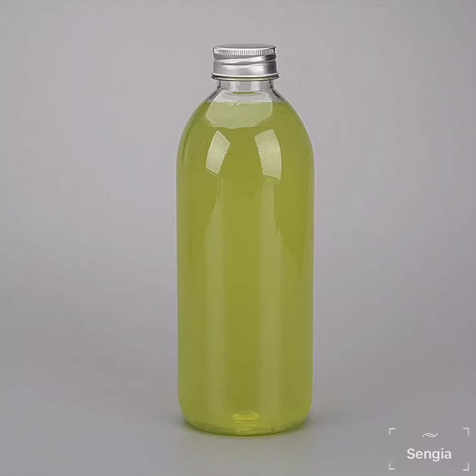 1 Litro Bottiglia Vuota Rotonda Trasparente Bottiglie di Plastica