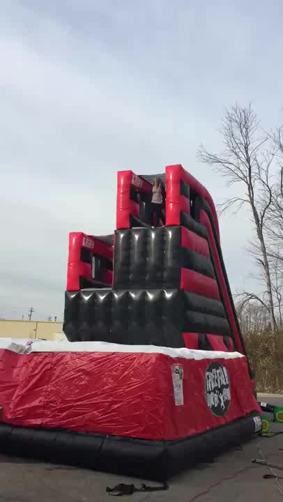 Free fall Double Jump Platform with Air Bag Inflatable Interactive