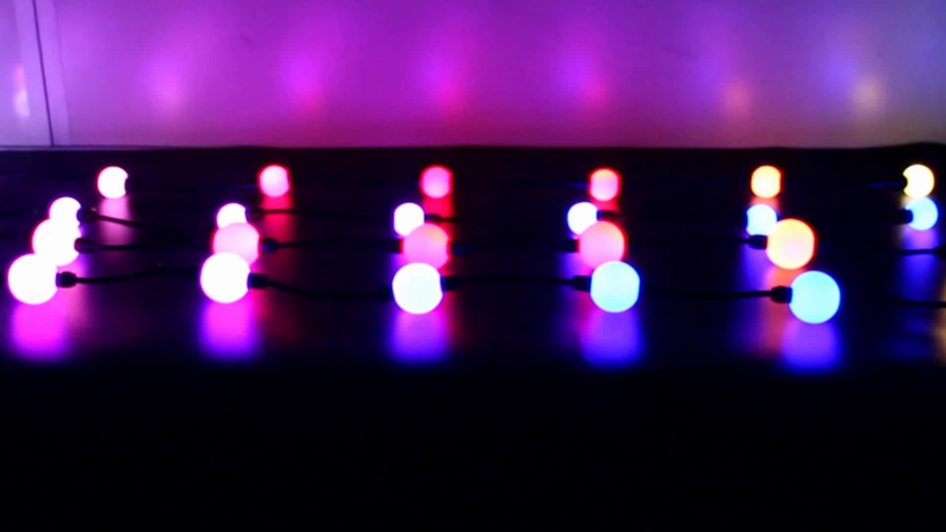 Ledเมจิกคริสตัลrgbพิกเซลลูกแสง3D dmxควบคุมledสตริงลูก