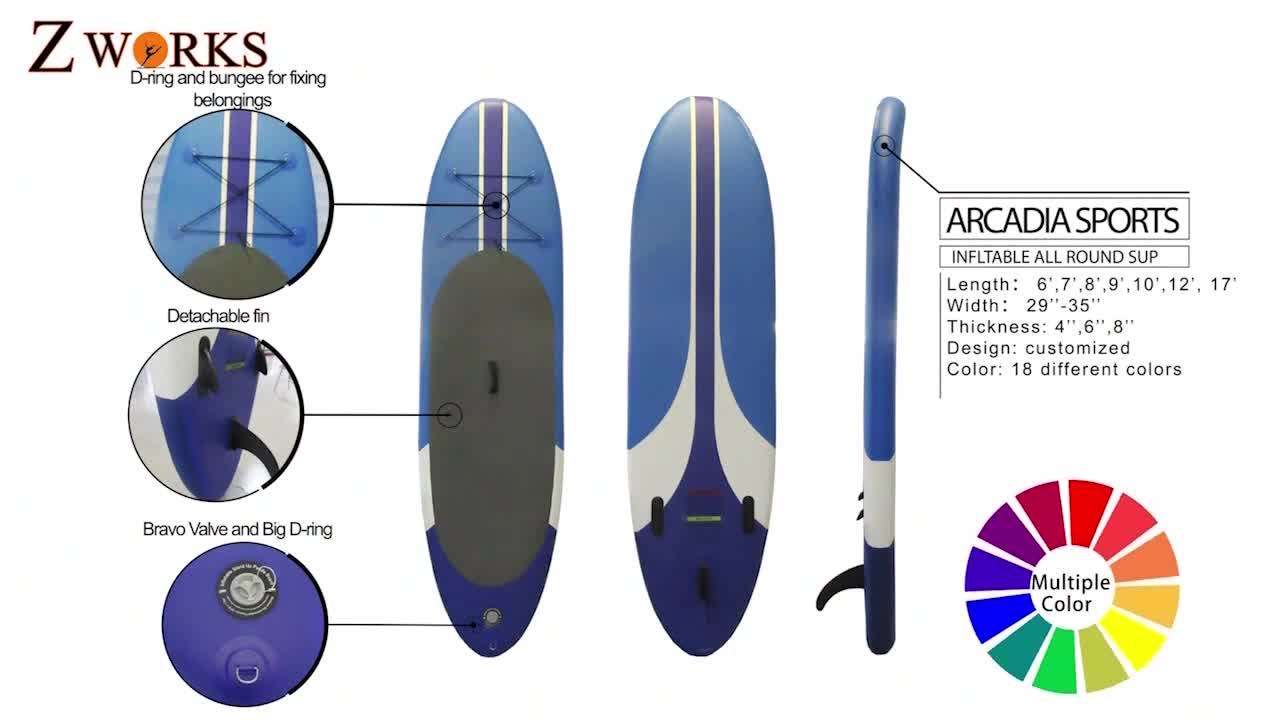 Super Speed Inflatable Stand Up Paddle Surfboard Longboard