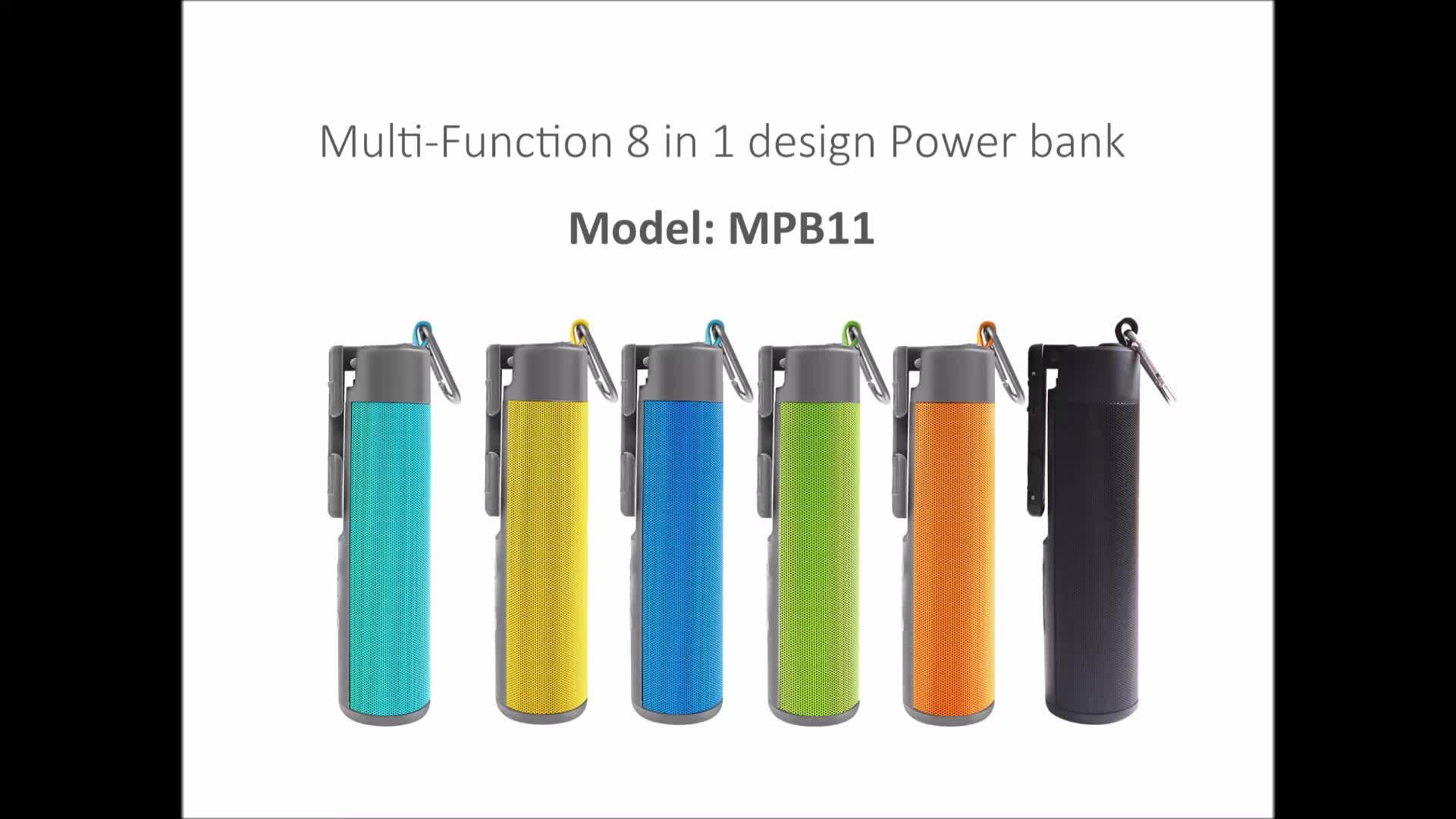 ใหม่ 8 ใน 1 หลายฟังก์ชั่นแบบพกพา Mini อัตโนมัติ Universal แฮนด์ฟรี Selfie Stick Power bank ลำโพงบลูทูธ