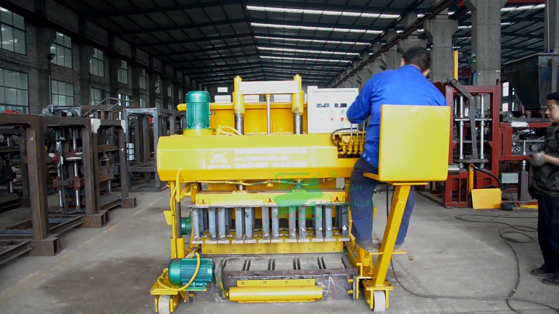 Machine manuelle pour la fabrication de briques, à QMT6-25 blocs, hydraulique