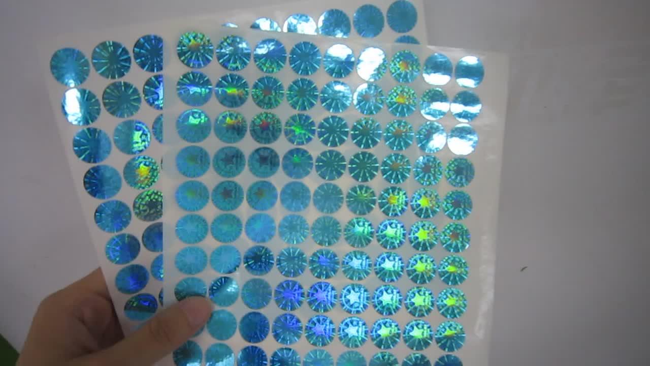Posicionamento Hot Stamping Etiqueta Etiqueta Etiqueta de Código de barras de Marcação A Laser Holográfico 3D Matriciais Litografia Rótulo