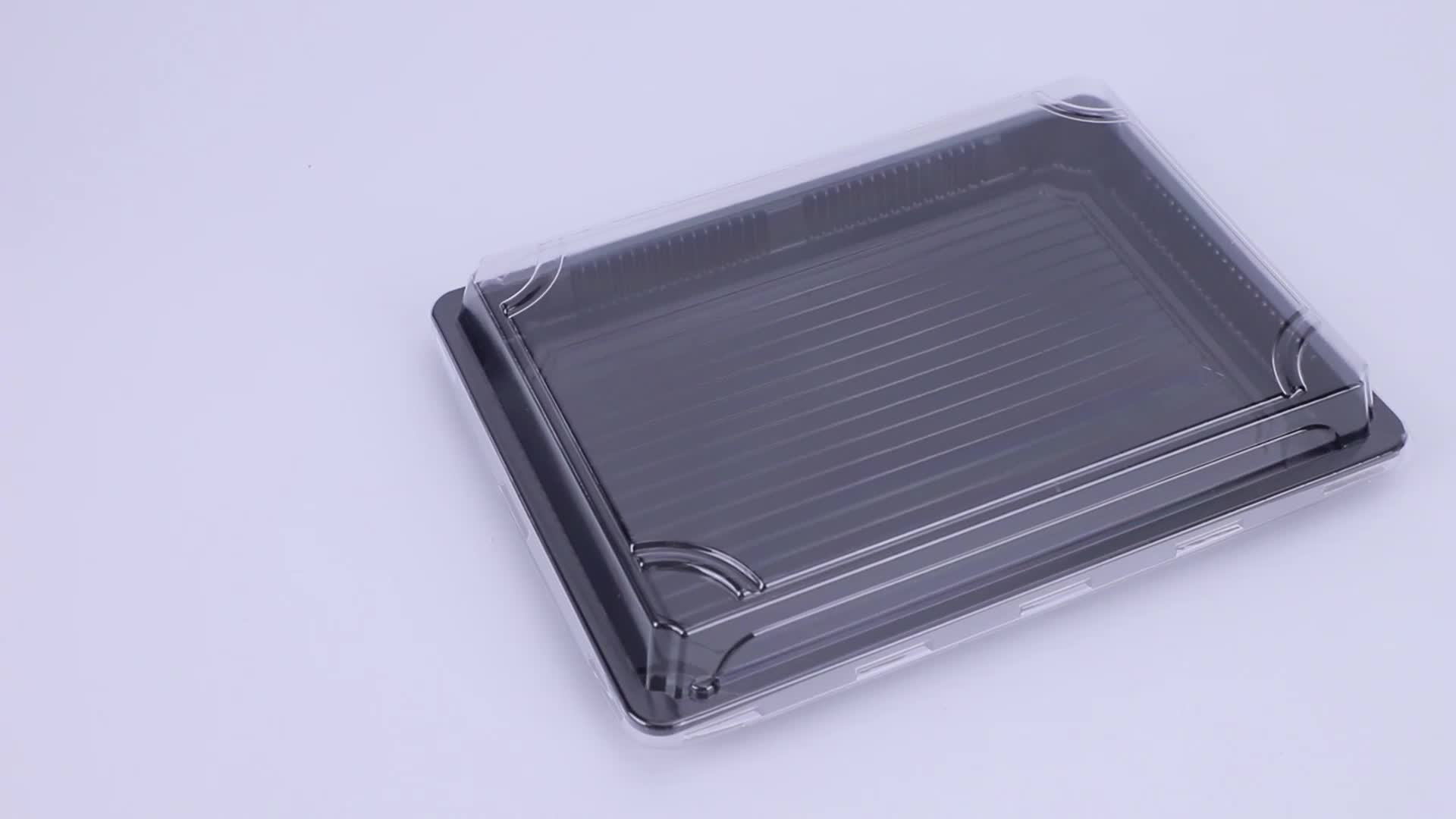 Recyclable Disposable food grade plastic sushi packaging box take out container