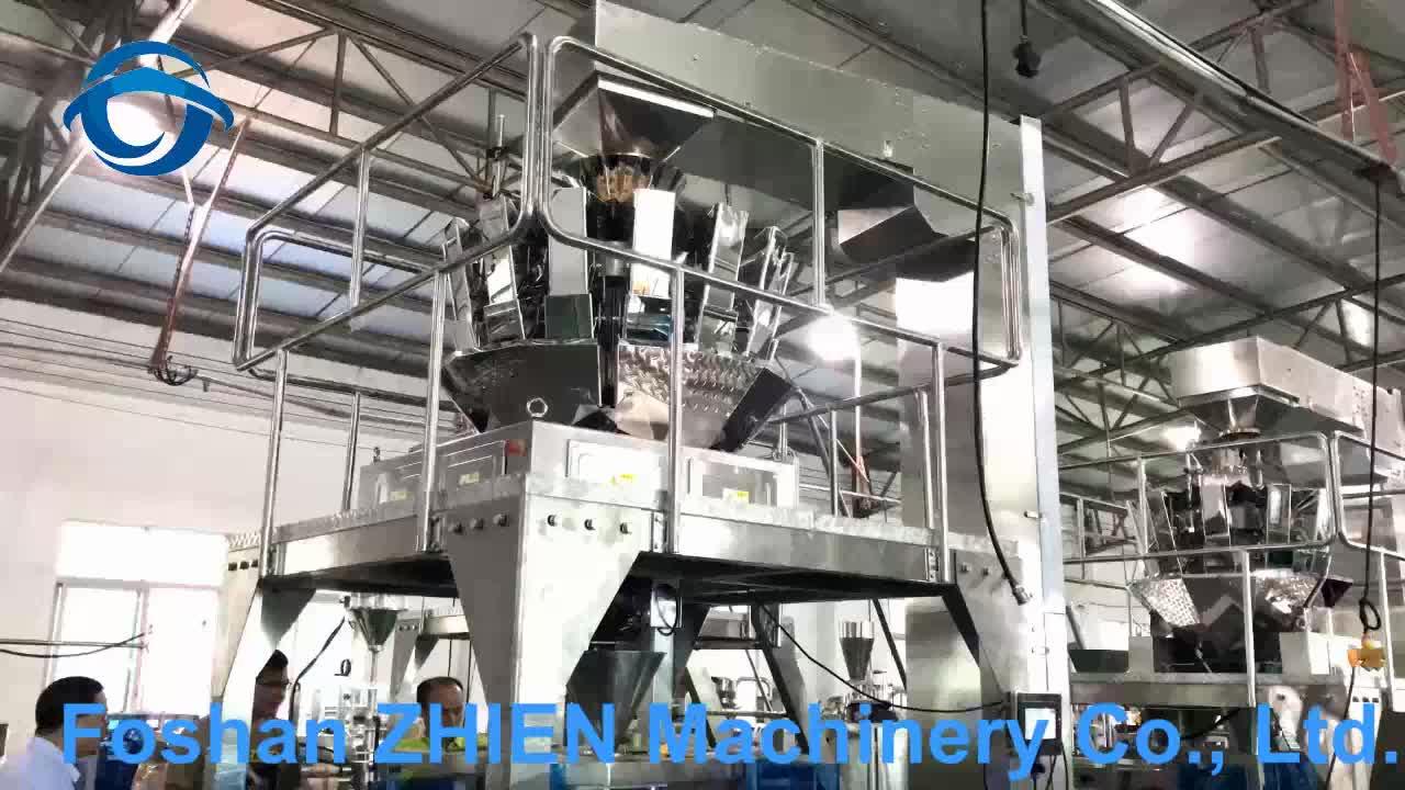 Potato chips low cost pouch weighing packing machine