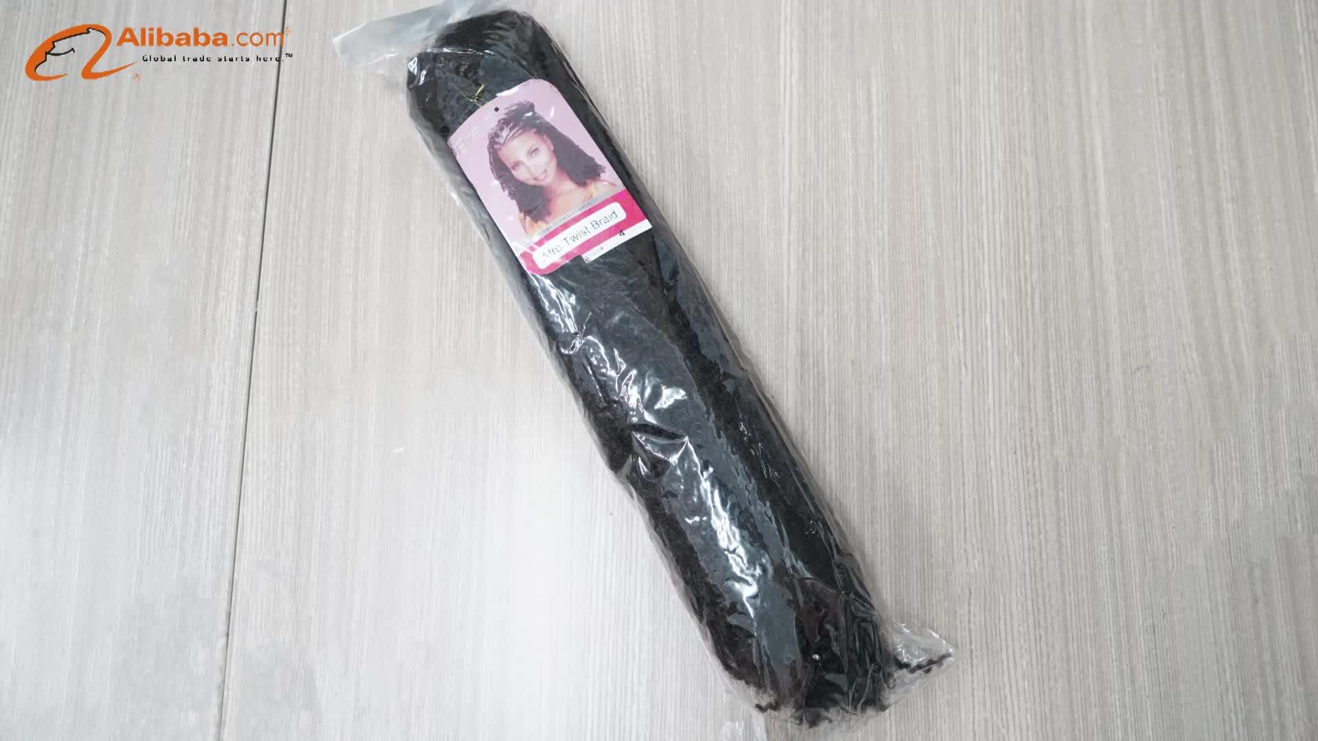 工場卸売ホット販売マーリー毛編組アフロカールマーリーブレイドヘアー合成アフロツイスト髪かぎ針編組