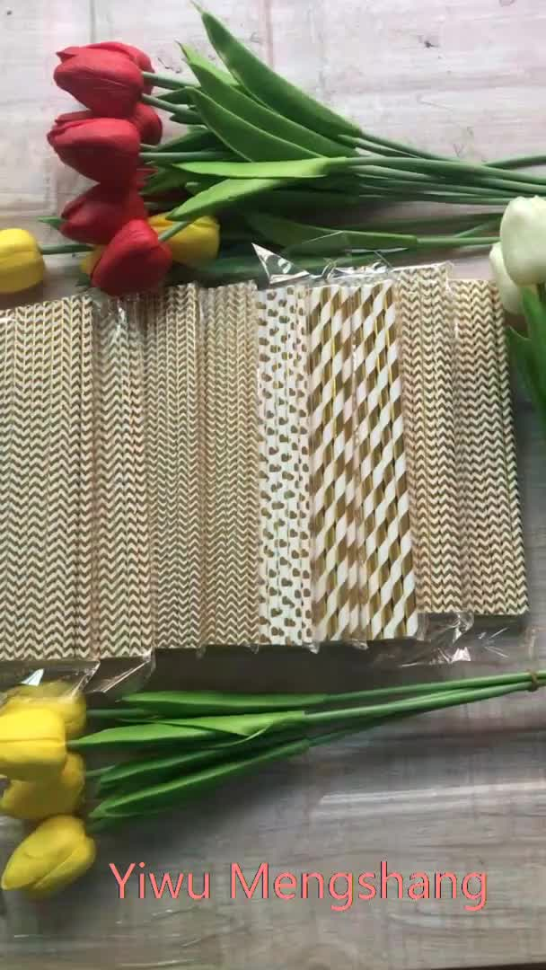 Flexible eco paper straws,  biodegradable wrapped disposable paper drinking paper straw
