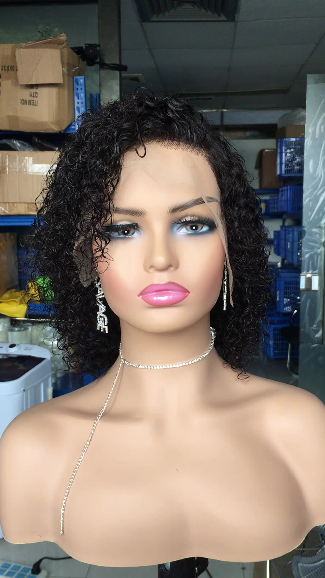 Deep wave lace front wig on sale most popular virgin human hair wigs Brazilian hair wigs