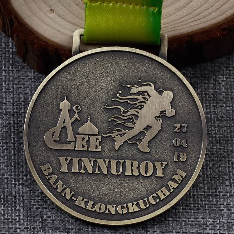 high quality custom antique bronze make own design award sports medals