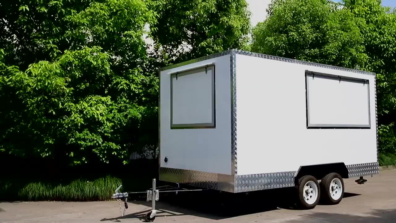 Mobile offroad concessione camper cibo rimorchio del camion mobile da cucina