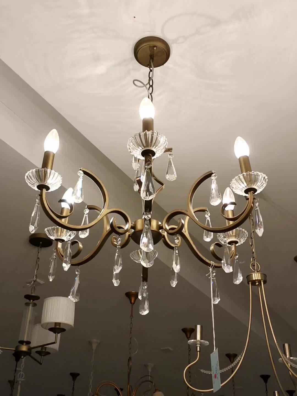 Wholesale Hotel Or Home Decorate Lustre Antique Brass Cristal Chandelier