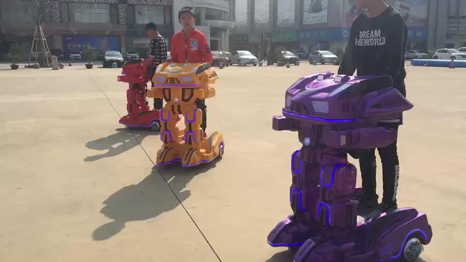 Shopping Plazza Amusement Electric Kids Rides  Iron Man Remote Control Walking Robot