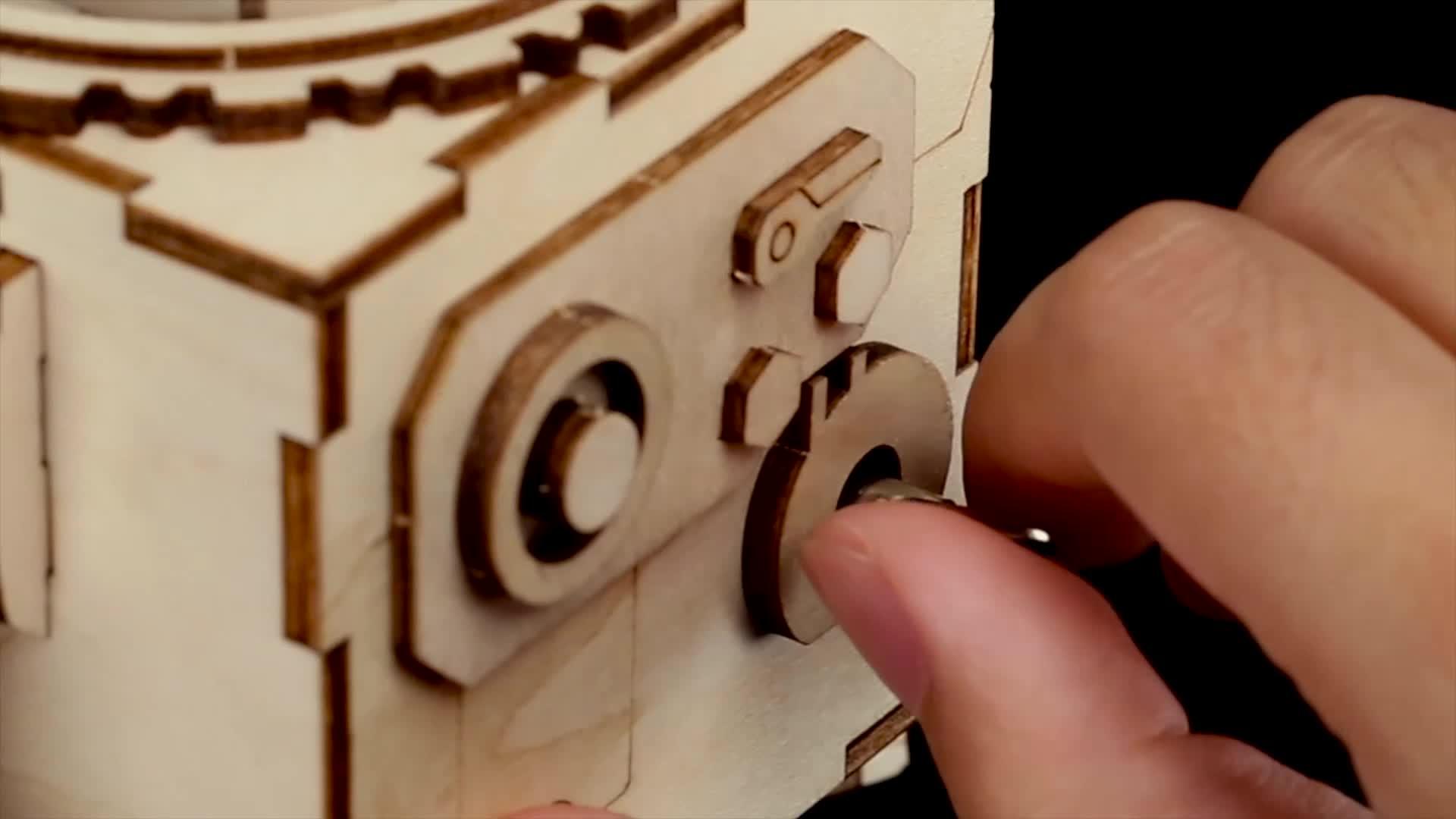 โรงงาน Steam Punk DIY Music BOX 3D ปริศนาไม้