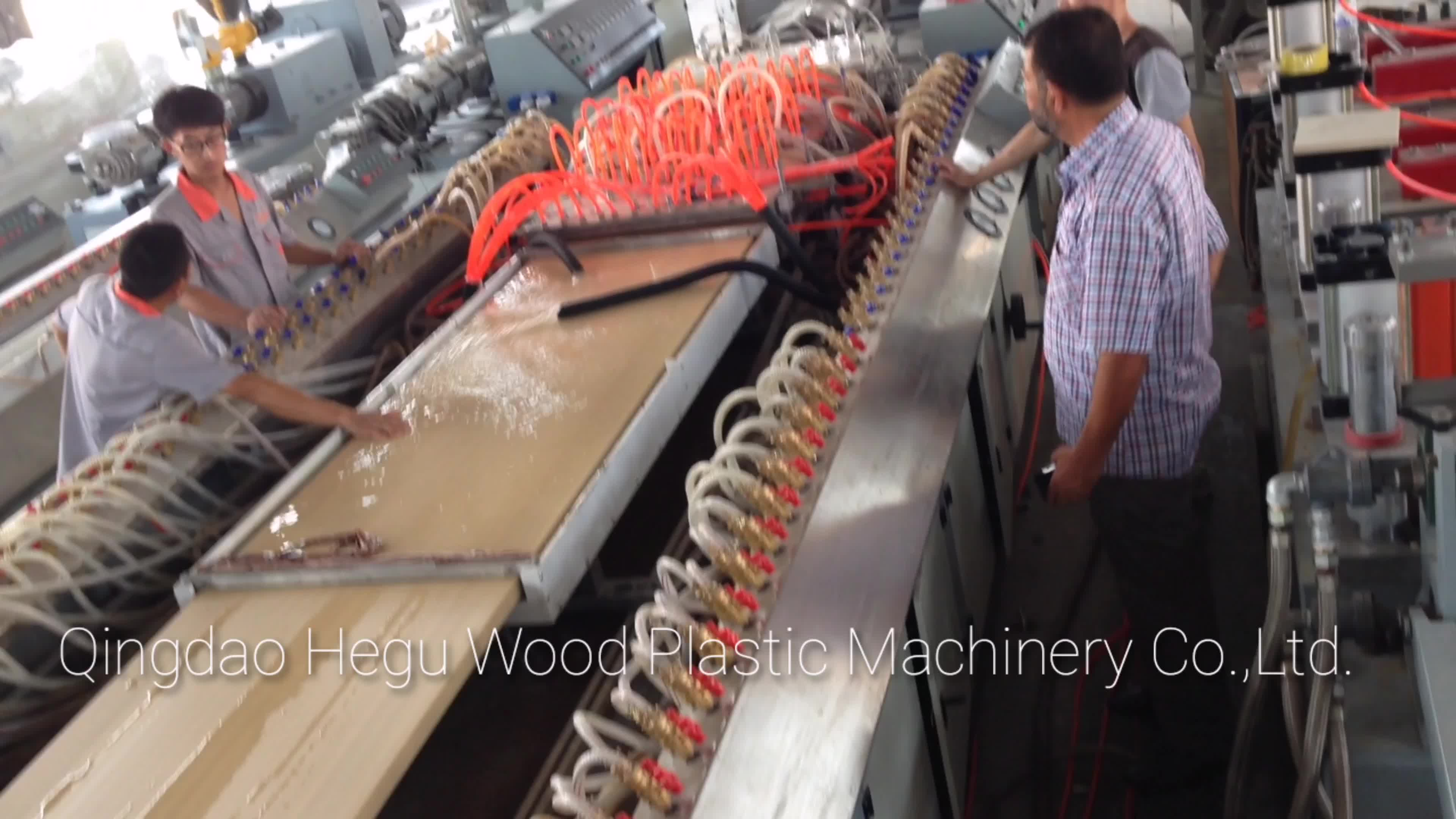 Automatic Complete PVC and wood Composition wpc door panel extrusion line