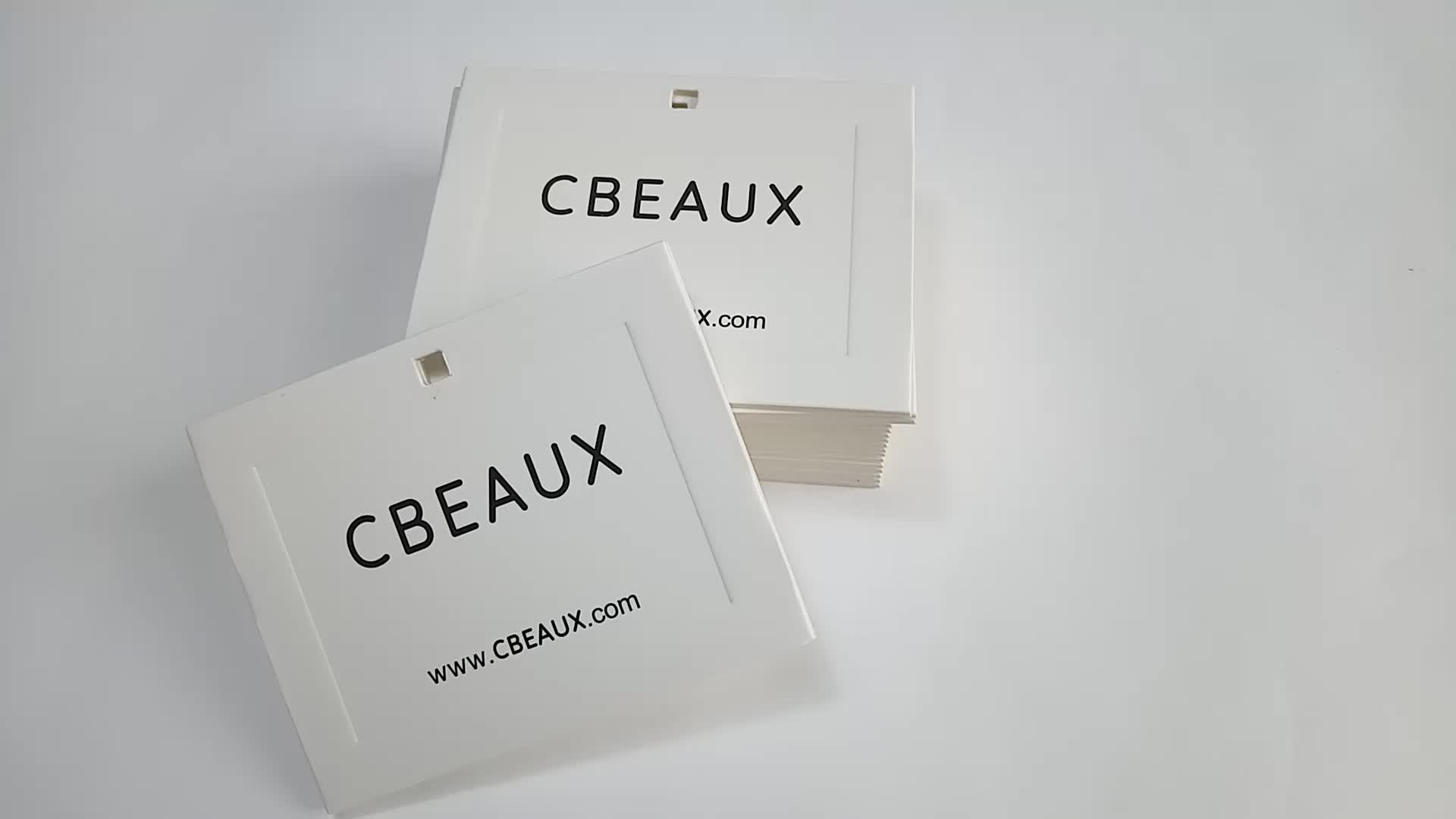 700gsm white cardboard garment clothing price tag with printed logo