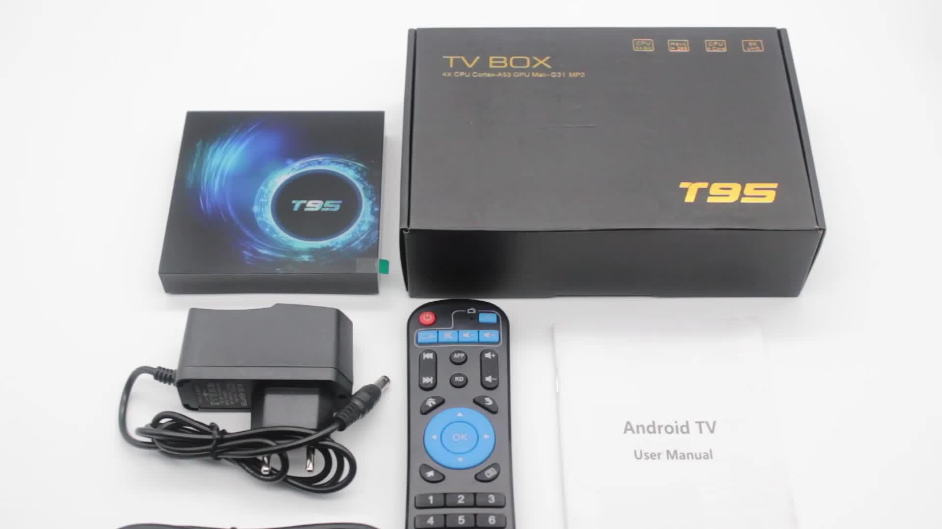 2020 plus récent concurrentiel T95 android 10 décodeur Allwinner H616 Quad core tv box 2gb ram 16gb 32gb rom