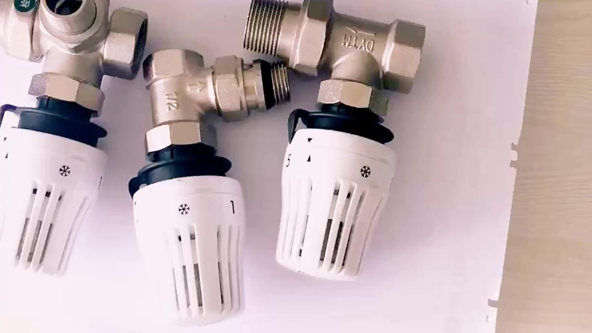 पीतल के लिए कोण Trv वायरलेस वाईफ़ाई थर्मास्टाटिक रेडिएटर वाल्व गर्म पानी