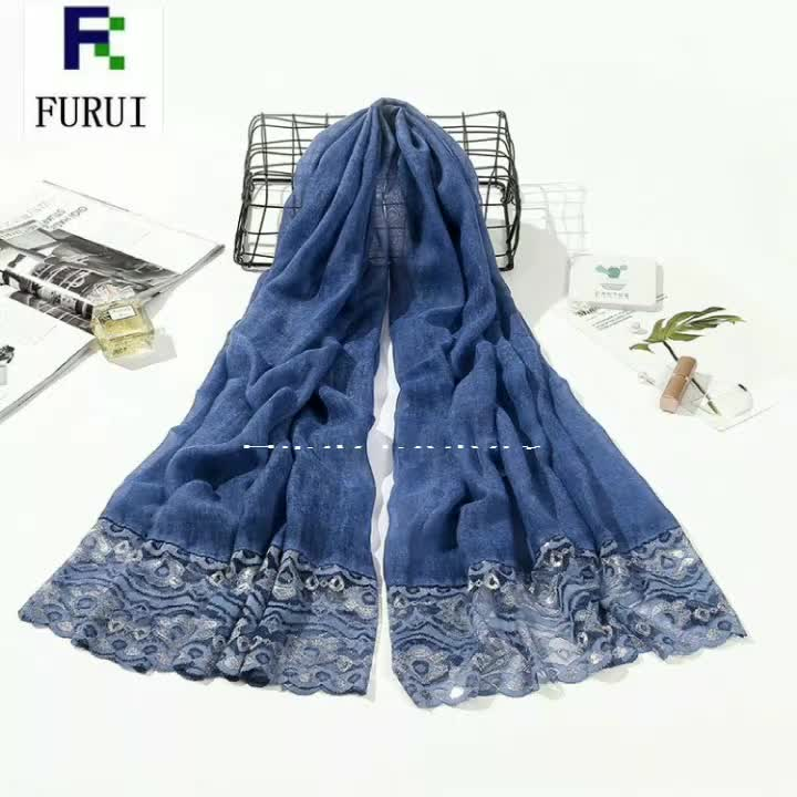 hijab scarf 2019 muslim ladies stoles cotton hijab latest shimmer lace scarf china shawl scarfs for women stylish