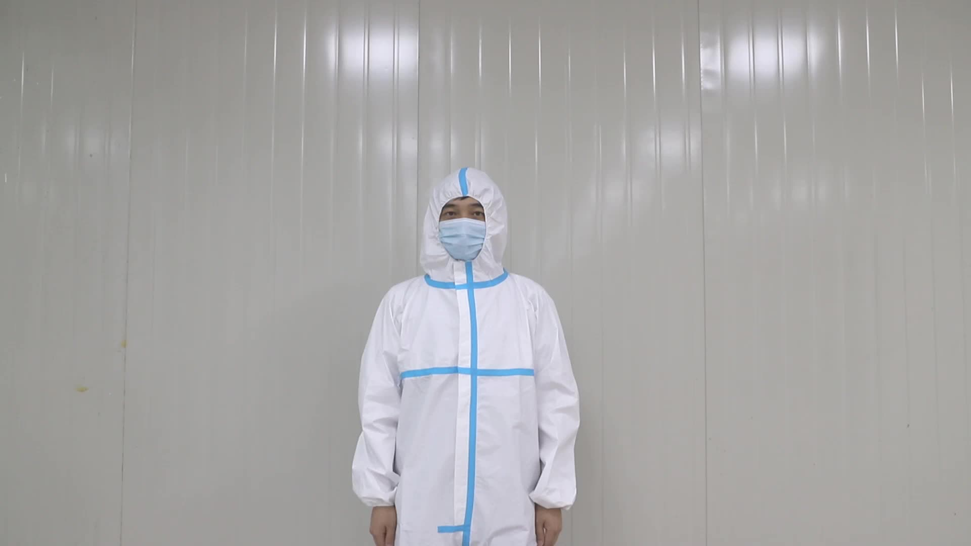 Disposable medical protective clothings coverall PP+PE 70GSM