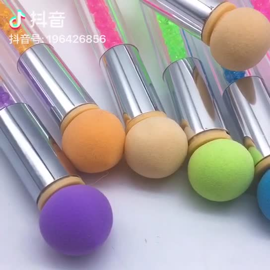 SUNNY Double Side Sponge Head Ombre Nail Brush Set for Colored Gel