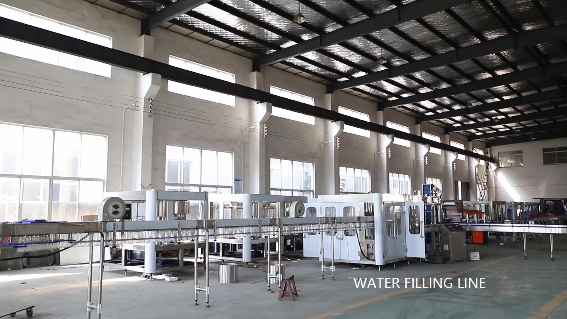 Garrafa pet automática de engarrafamento de água potável planta/máquina de enchimento de água mineral