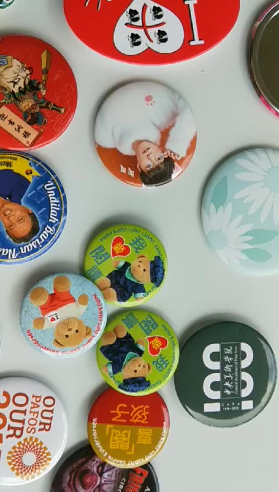 Wholesale cheap screen printing Metal tin 32MM Button Badge