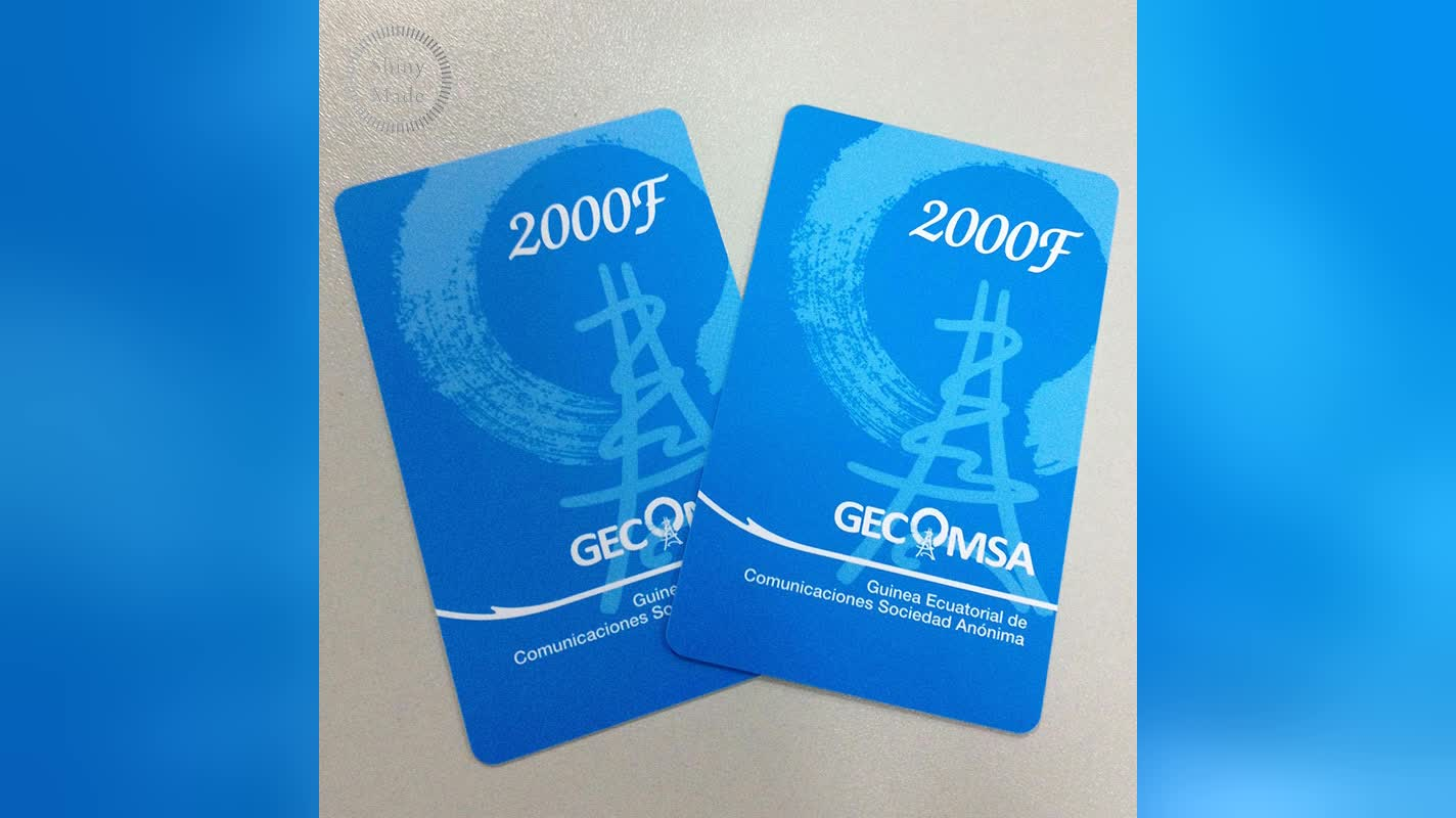 Hot selling pvc business card plastic transparent card with customize logo