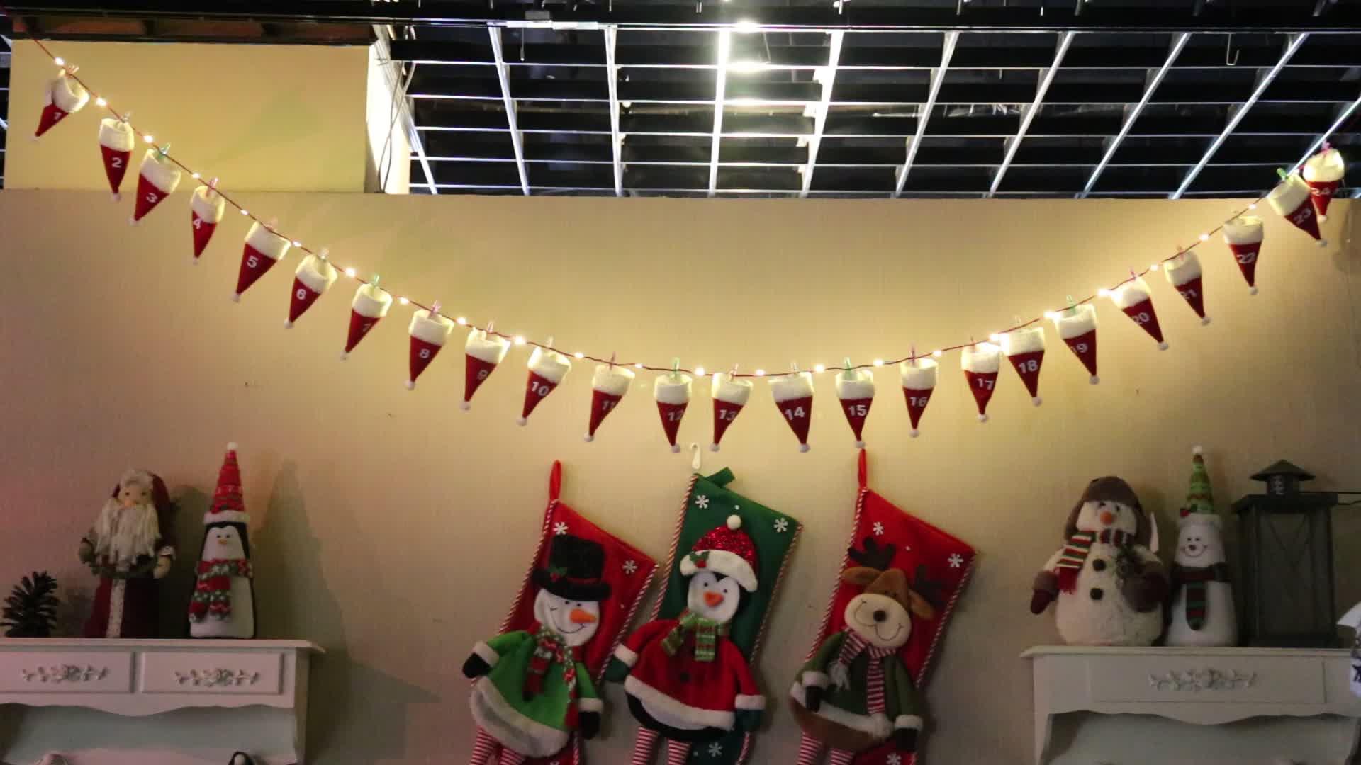 Led Lampu Berkedip Liburan Menggantung Hiasan Natal Bunting Dinding Dekorasi Jendela Buy Natal Dekorasitopi Ornamen Bendera Dengan Led Light