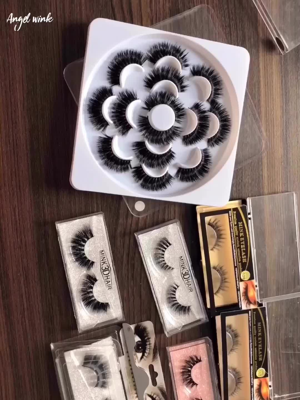 2019 toptan yanlış kirpik çiçek 3d 5d 25mm vizon kirpik satıcı özel kirpik kitap ambalaj çiçek kirpik kutusu