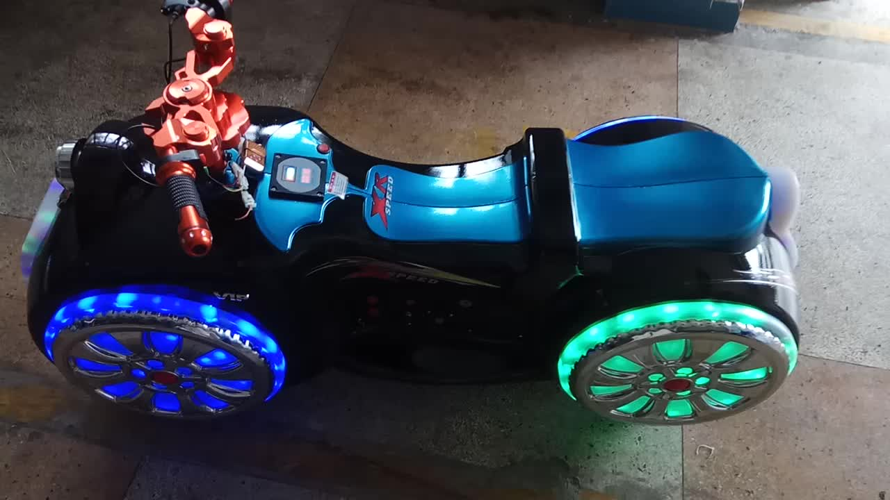Hottest design LED lights shopping mall motorcycle kids prince moto ride on car toy
