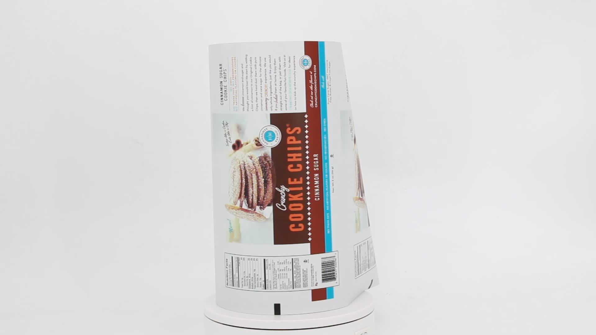 Bopp de embalagem flexível de plástico/cpp rolo de filme laminado