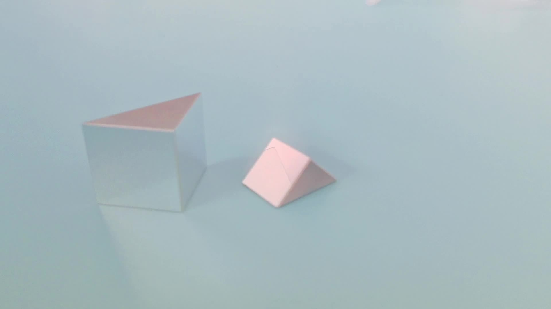 N-BK7/Fused silica Equilateral triangular Right angle prism with Al,Au,Ag ,HR coating