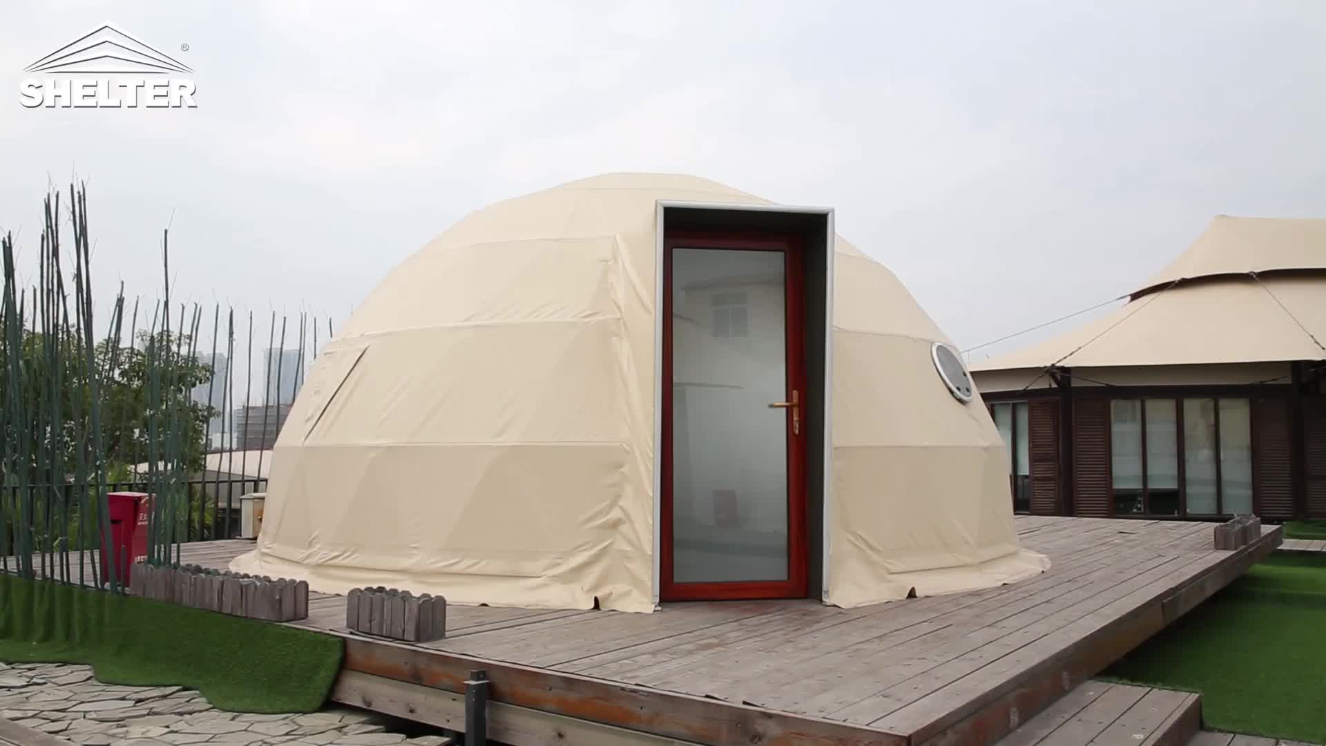 Dia.6m geodesic living clear dome house tent igloo tent for winter