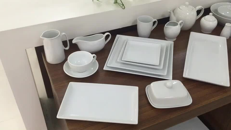 e269fc9c1554 Support Oem Service Promotion White Square Dinner Plates Porcelain ...