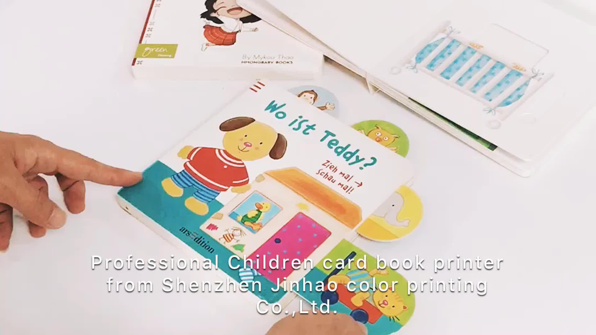 Chất lượng cao tùy chỉnh pop up trẻ em sách hội đồng quản trị thẻ sách trẻ em cuốn sách in ấn
