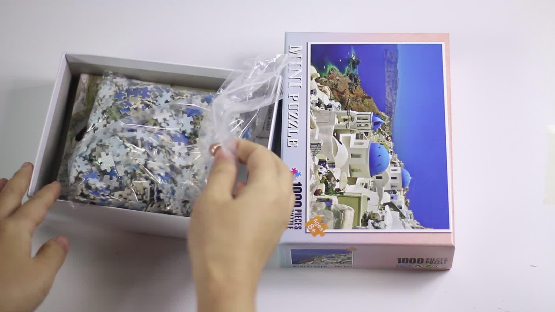 YMK במלאי 1000 חתיכה מיני קרטון פאזל נייר פאזל משחקים במלאי סיטונאי