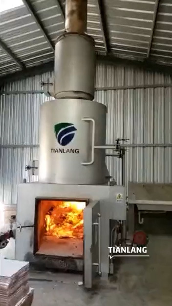Poultry and animal carcasses incinerator machine slaughterhouse garbage burning equipment