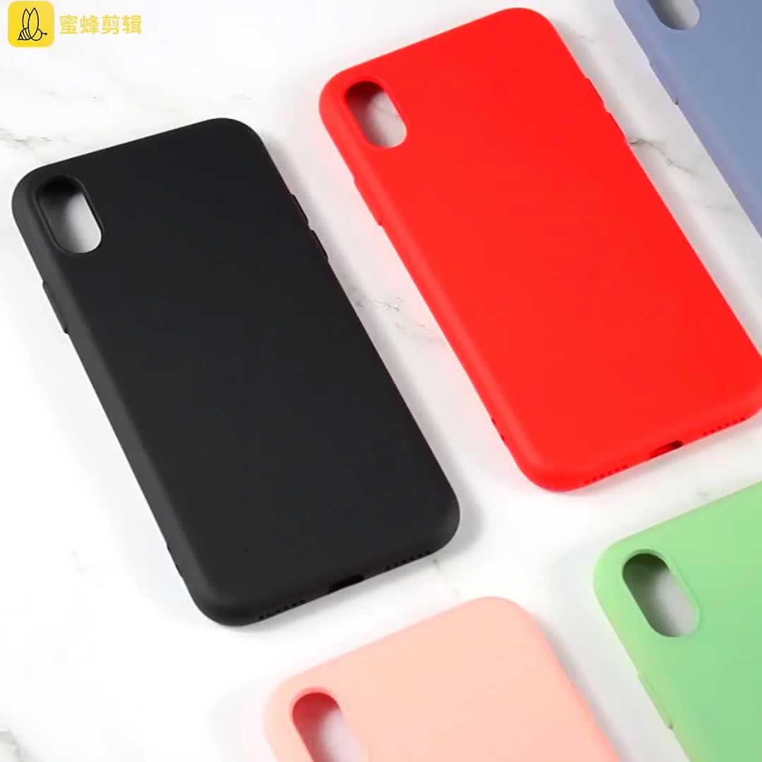फोन के मामले में विनिर्माण के लिए TPU सेल फोन के मामले में नक़ली तरल सिलिकॉन फोन के मामले में iPhone X XS अधिकतम