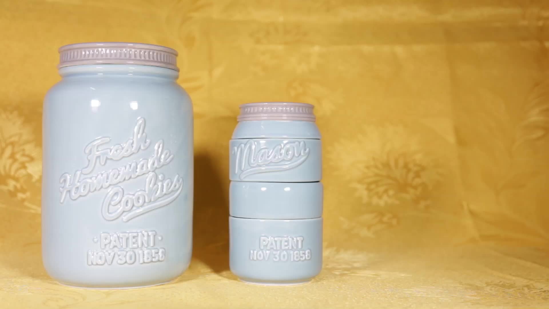 Kitchen Accessory Sweet Tooth Ceramic Cookie Jar