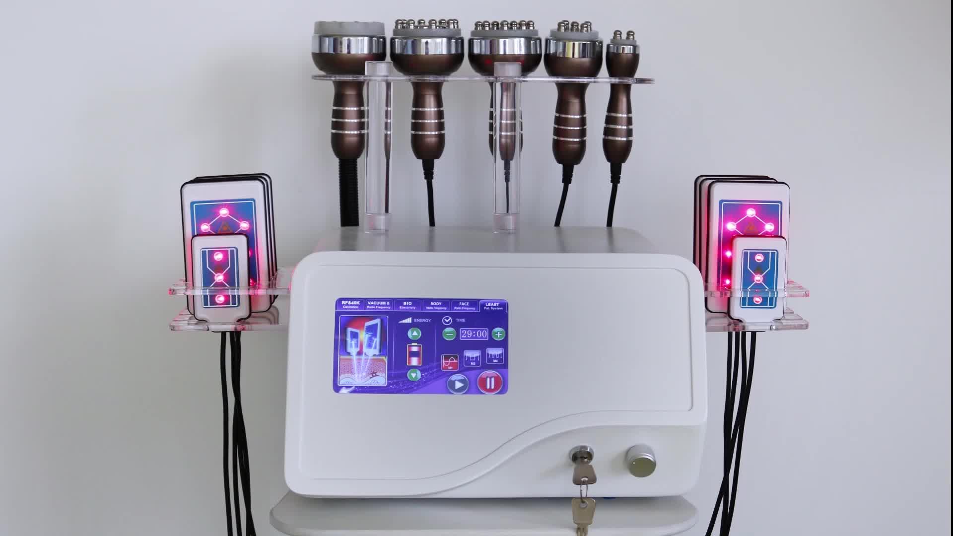 Portátil 40k de Gordura de Laser Lipo Cavitação RF Máquina Para O Corpo de Emagrecimento e Tripolar RF Máquina Facial Para Venda