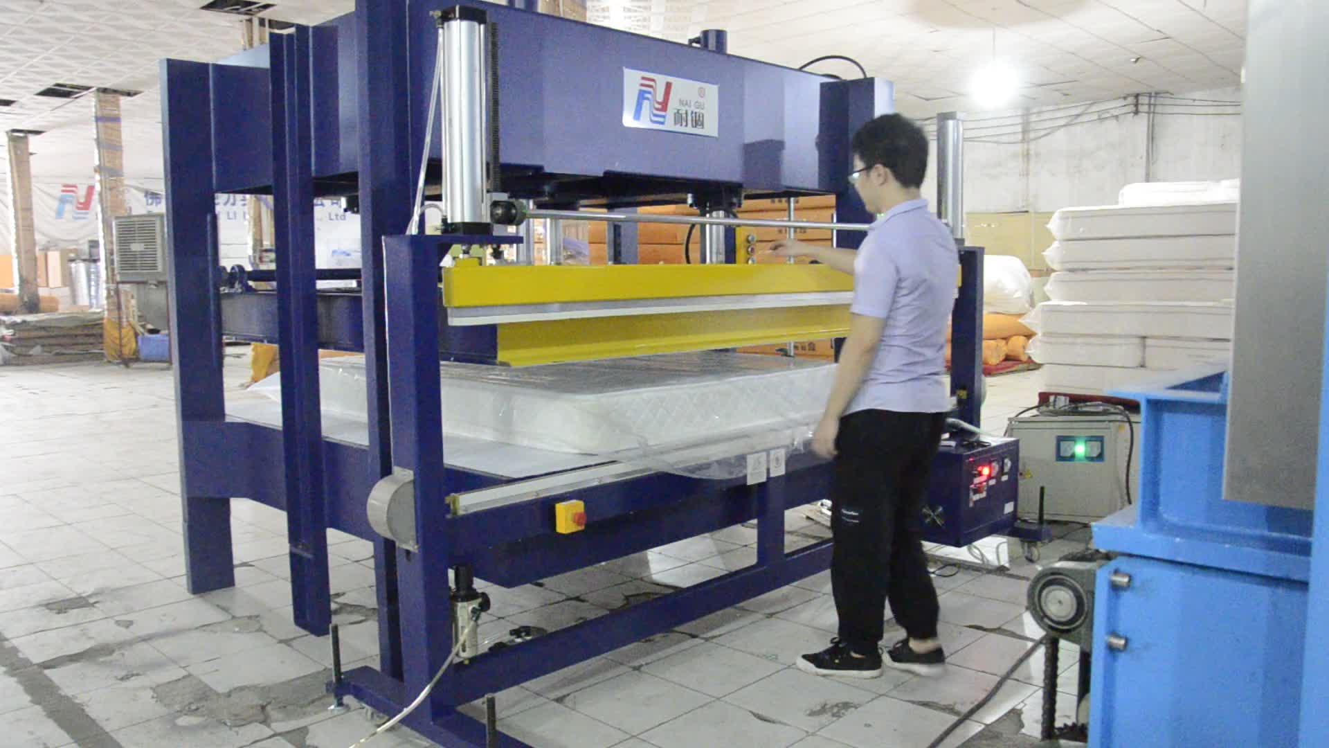 NG-01M Bom produto de óleo preço de fábrica semi máquina de compressão da mola do bolso colchão de espuma de látex de embalar a vácuo