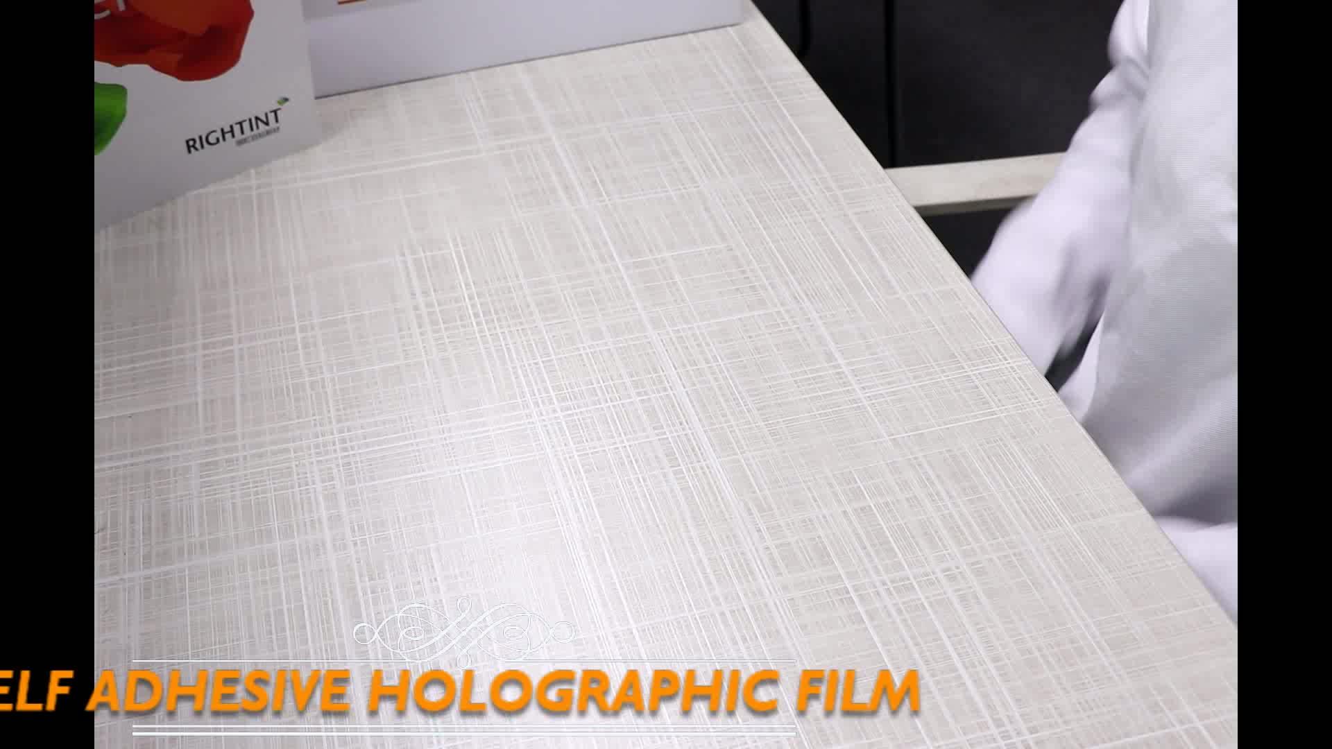 Zelfklevende holografische film roll met rugpapier liner