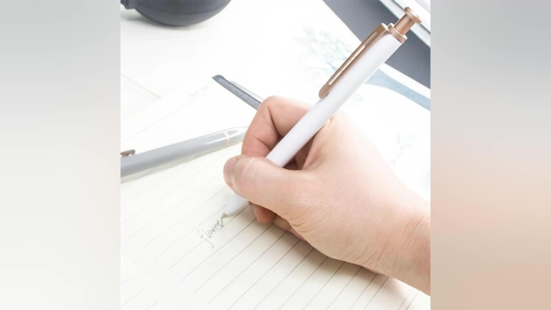 2018 Good quality click ballpoint pen to customize the logo metal ballpoint pen