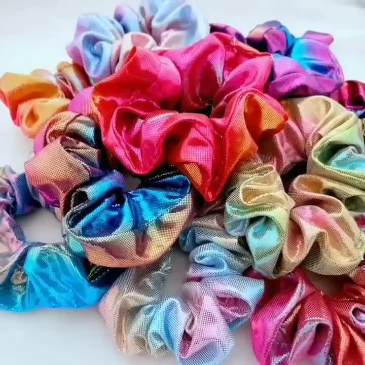Arcobaleno fasce dei capelli del metallo stampa a Caldo doppio-colore escherichia coil fiore del copricapo Lucido Nastri Per Capelli