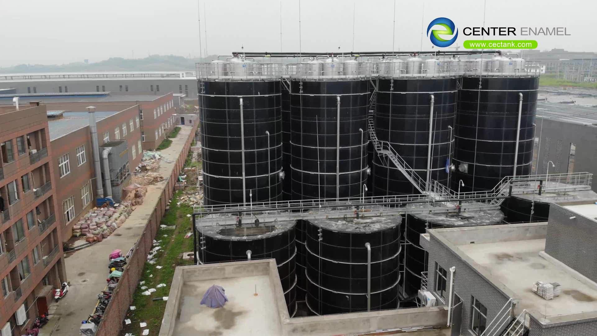 Biogas reattore serbatoio dotato di doppia membrana del tetto per raccogliere biogas
