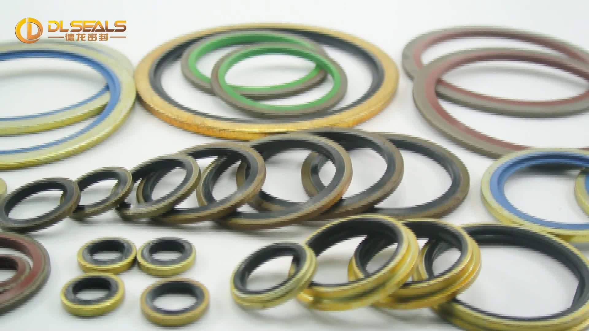 New products steel blue rubber bonded seal composite seal