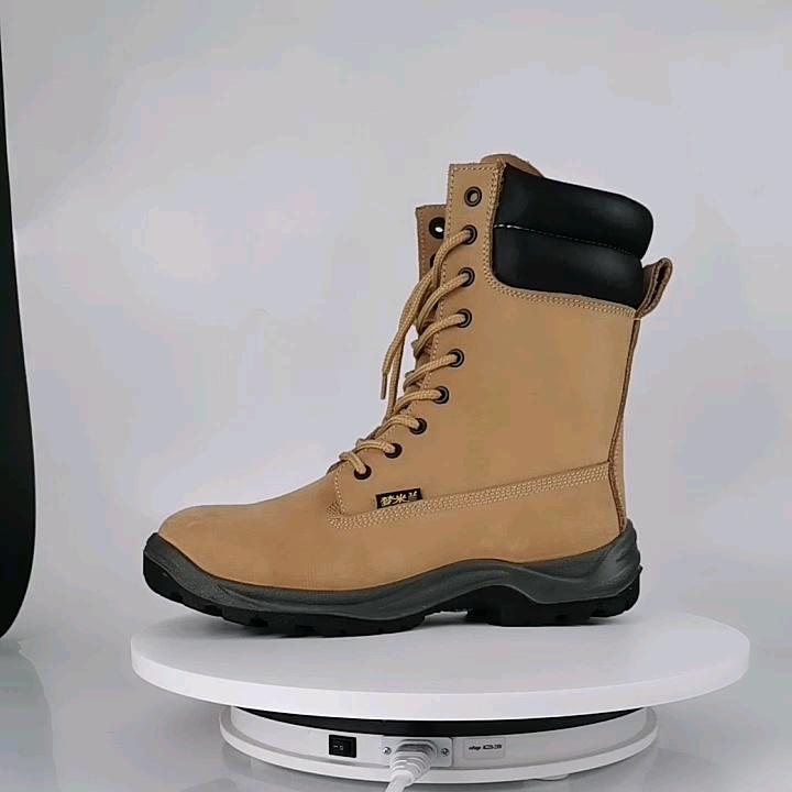 سعر المصنع الجلود نصف أحذية السلامة معزول الأحذية بالمنشار التمهيد
